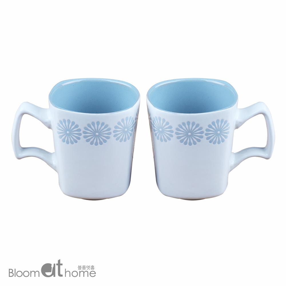 플레임 블루 머그컵 (중) 2P