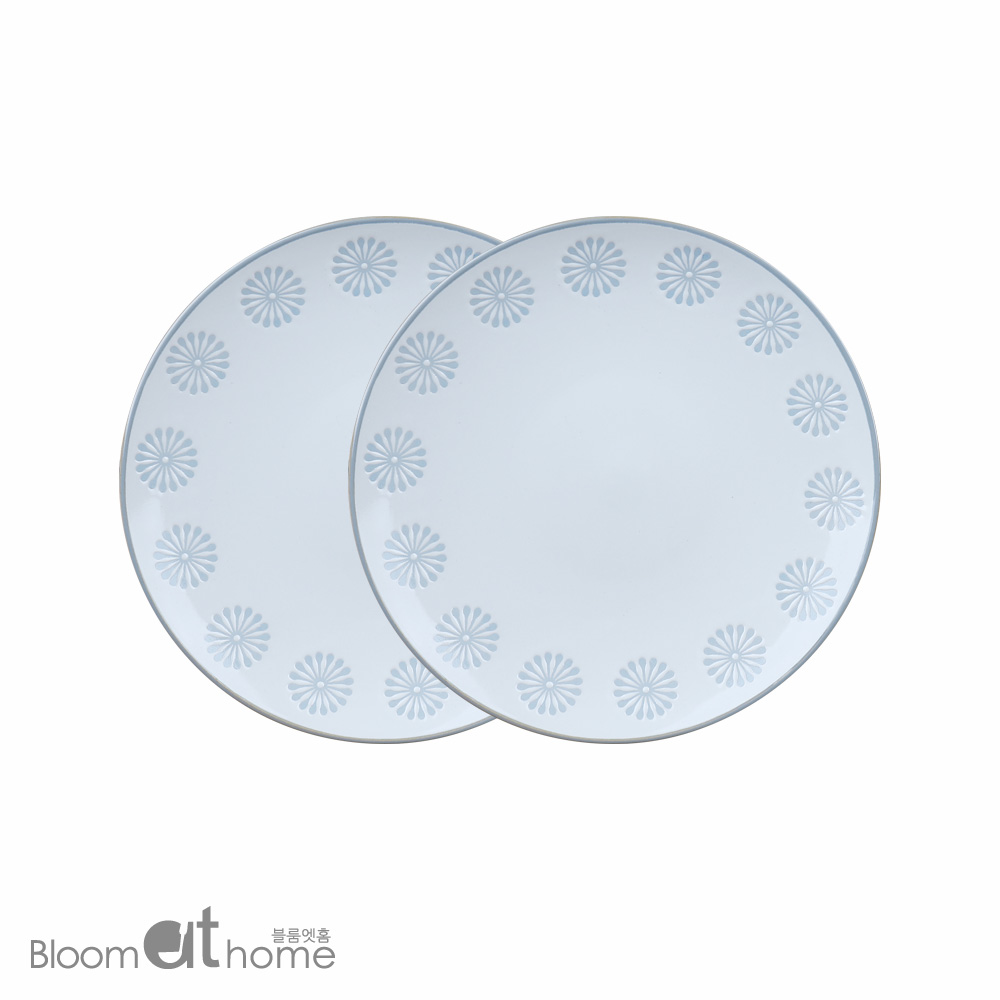 플레임 블루 접시 (중) 2P