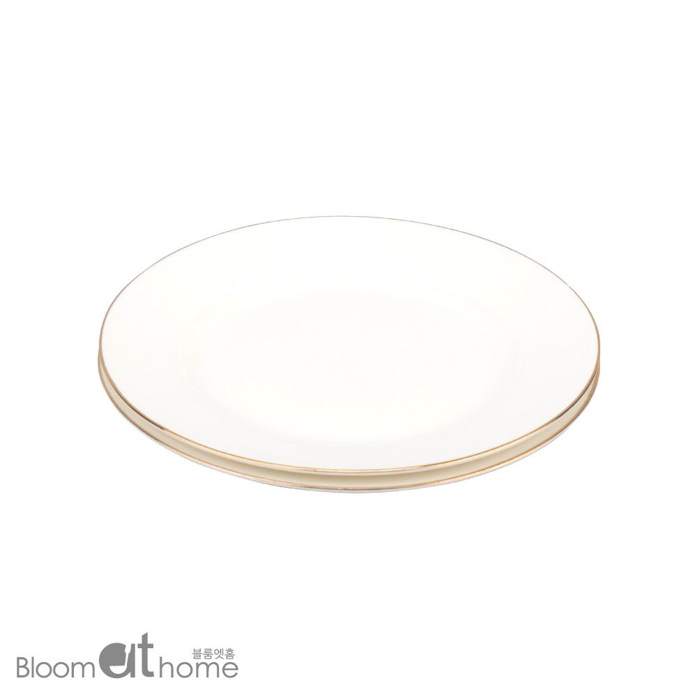 뉴본차이나 골드링 접시 (중) 2P