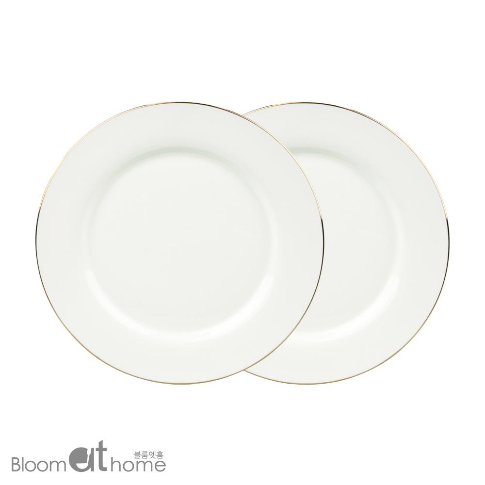 뉴본차이나 골드링 접시 (대) 2P